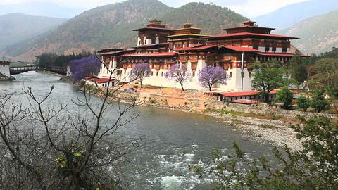 View of Punakha Dzong in Bhutan Archivo