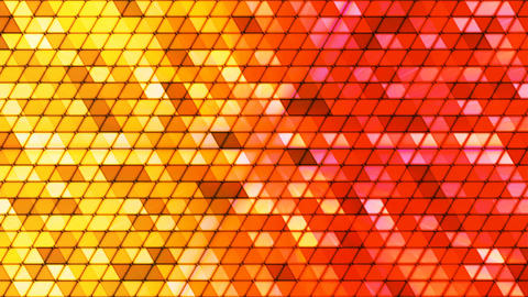 Broadcast Twinkling Cubic Hi-Tech Triangles, Multi Color, Abstract, Loopable, 4K Animation