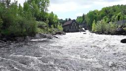 La Pulperie de Chicoutimi Regional Museum Pulp mill in Saguenay, Quebec Footage
