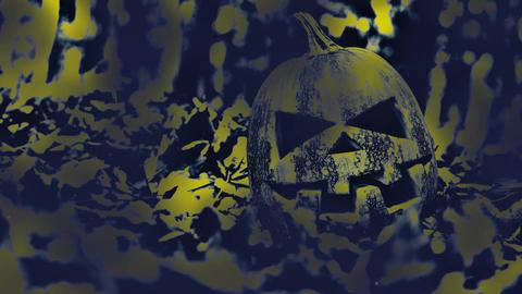 Halloween Pumpkin smoke background Archivo