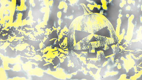 Halloween Pumpkin smoke background CG動画素材