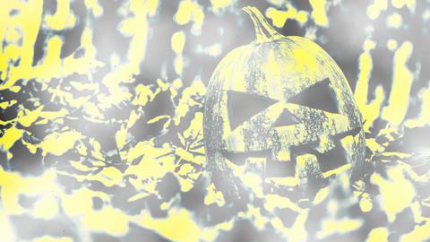 [alt video] Halloween Pumpkin smoke background