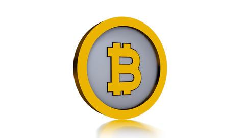 Bitcoin logo isolated on white background Foto