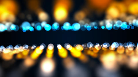 Abstract gold bokeh with black background. Digital Foto