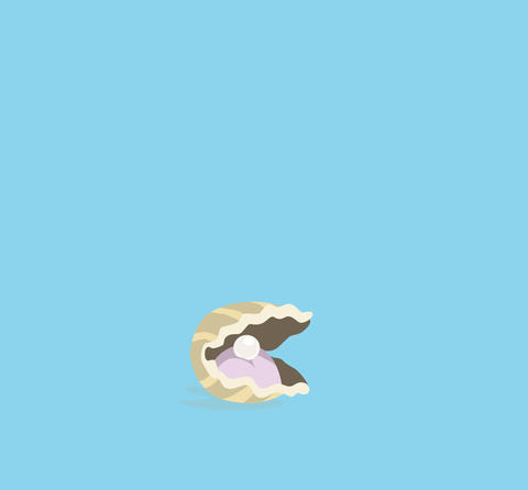 Clam and pearl Animation
