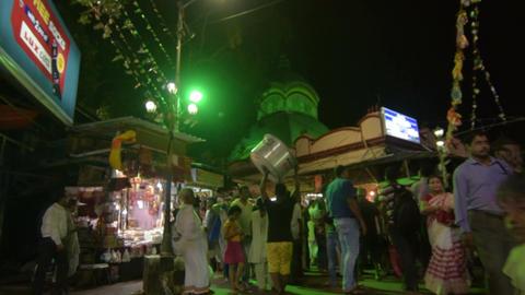 Kalighat temple at night 画像