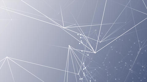 Abstract network White dots connected on fresh blue white background Animation