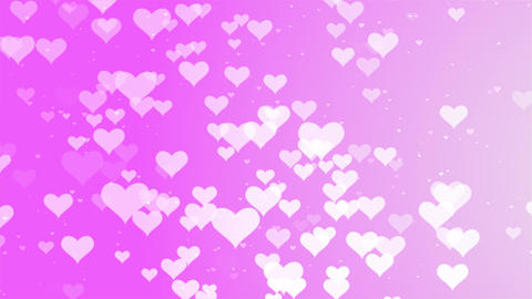 Valentines Day romantic Pink big hearts floating motion background Animation