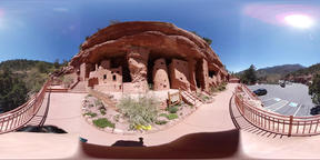 360 VR of the beautiful Manitou Cliff Dwellings Footage