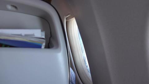 Video of airplane window in 4k Filmmaterial