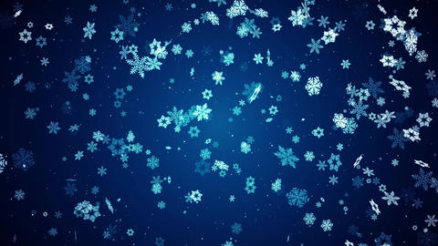 Abstract Christmas stylized snowflakes Slowly moving Video Loop Background Animation