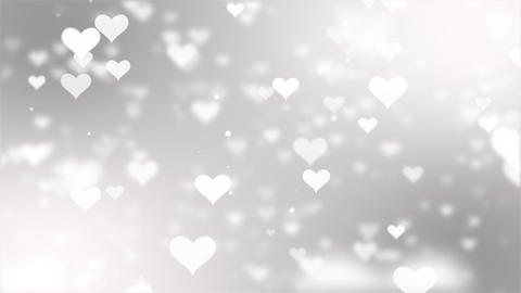 Abstract White Flying love hearts on a pink seamless loop motion background Animation