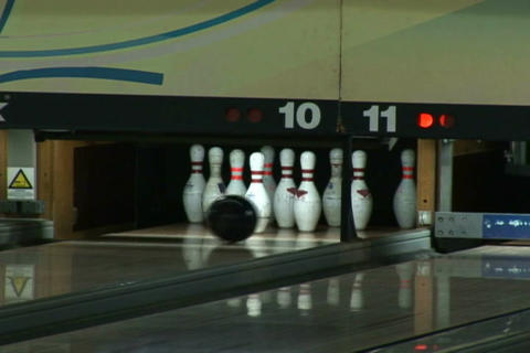 Bowling strike Footage