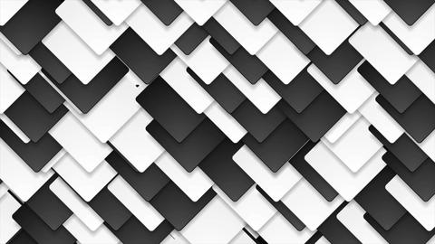 Contrast black and white abstract squares video animation Animation