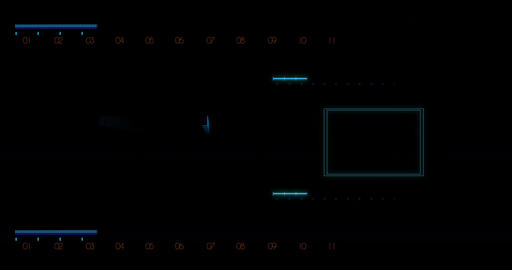 Futuristic Hud with Computer Data Screen design element Stock Video Footage