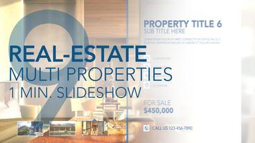 Real-Estate Multi Properties 1min Slideshow 09 - After Effects Template Plantilla de After Effects