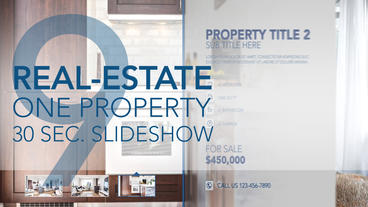 Real-Estate One Property 30s Slideshow 09 - After Effects Template After Effects Template