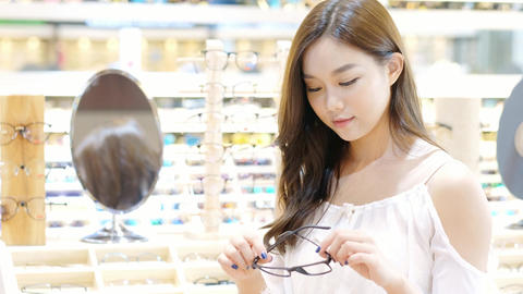 woman wear eyeglasses Footage