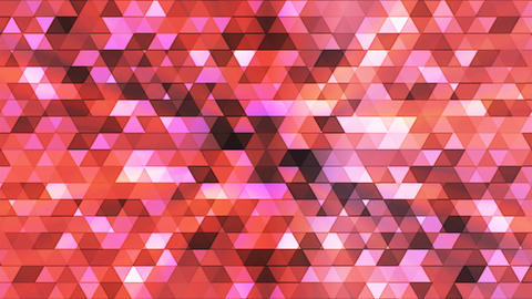 Broadcast Twinkling Polygon Hi-Tech Triangles, Red, Abstract, Loopable, 4K Animation
