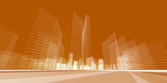 City concept 3d rendering Photo