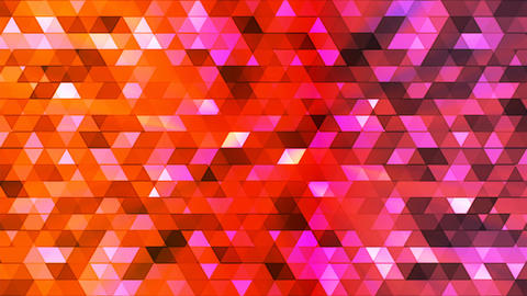 Broadcast Twinkling Polygon Hi-Tech Triangles, Multi Color, Abstract, Loopable, Animation