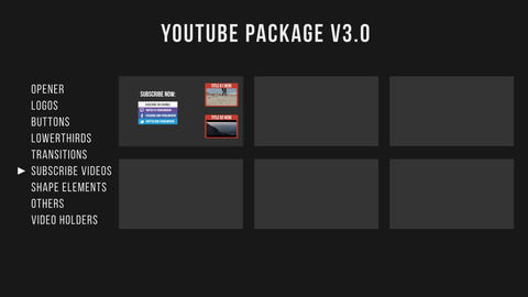 Youtube Package V3 After Effectsテンプレート