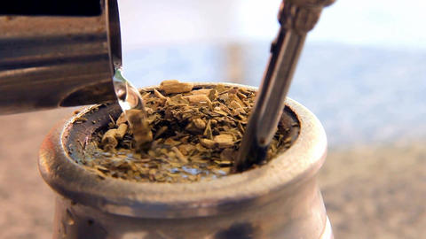 Argentinian Mate, Macro Shot Footage