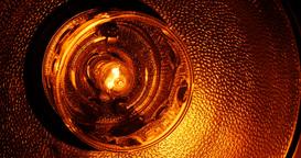 Spooky, slowly brighting light lamp Footage