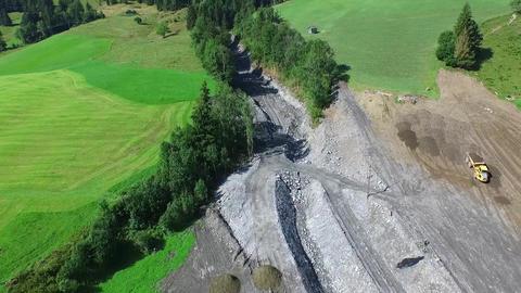 Mudslides in Austria following heavy Rain. Rauris in Salzburg, Europe Footage