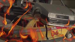 burn cars Footage