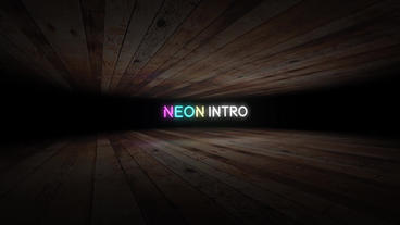 Neon Text Intro After Effects Template