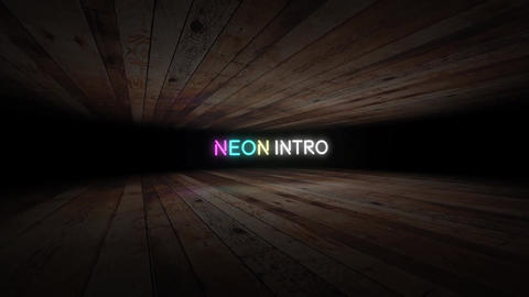 Neon Text Intro After Effectsテンプレート
