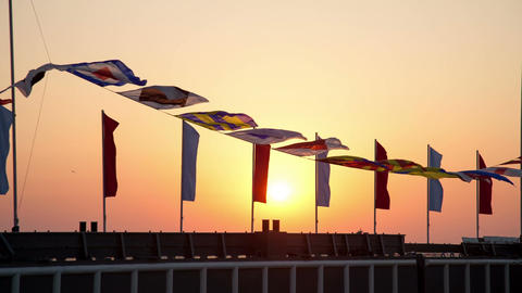 Semaphore flags marine Archivo