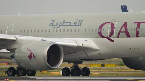 Airbus 350 taxiing before departure Footage