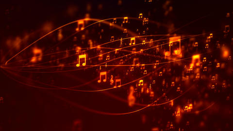 HD Loopable Background with nice flying musical notes Animation