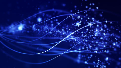 Christmas loopable background with nice falling snowflakes CG動画素材