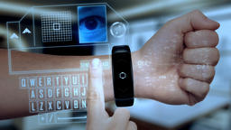 Futuristic hologram smart device technological concept Animation
