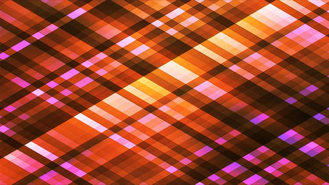 Broadcast Twinkling Diamond Hi-Tech Strips, Orange, Abstract, Loopable, 4K Animation