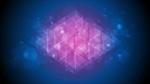 Tech polygon abstract blue purple shiny sparkling video animation Image