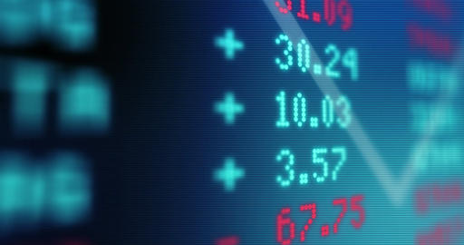Animated Stock Market Stock Video Footage