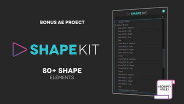 Shape Kit Script + Project Plantilla de After Effects