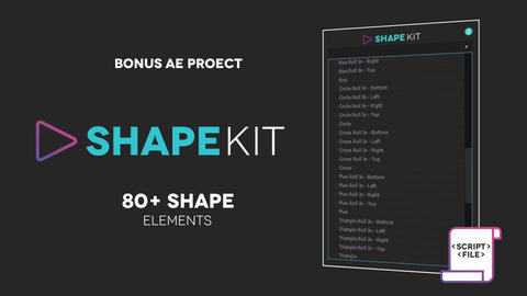 Shape Kit Script + Project After Effects Template