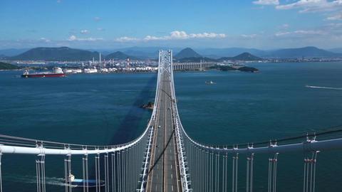 瀬戸大橋を空撮 ビデオ