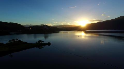 Sunrise in Sun Moon Lake Footage