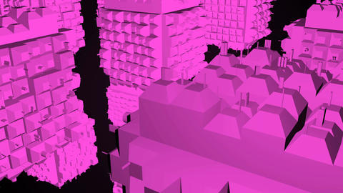 Abstract greeble cubes surface on black background. 3d rendering 画像