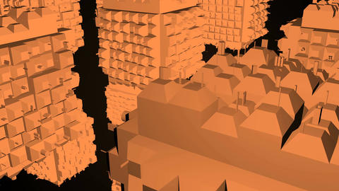 Abstract greeble cubes surface on black background. 3d rendering Footage