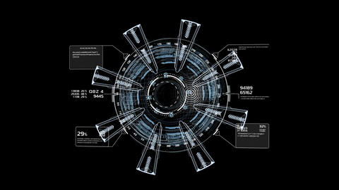 Beautiful Abstract 3D Blueprint. Numbers and Code... Stock Video Footage