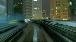 Night view of Tokyo from the beginning of the train Footage