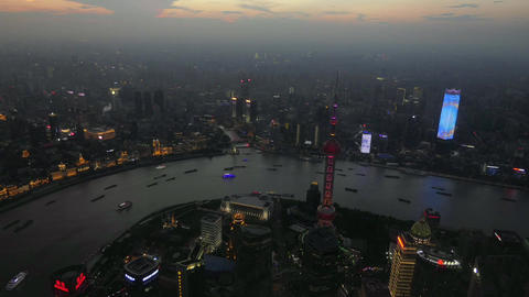 Timelapse Of The Bund From Shanghai Tower In China Asia 영상물