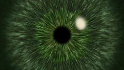 Green Eye Iris Pupil Dilates and Contracts Animation